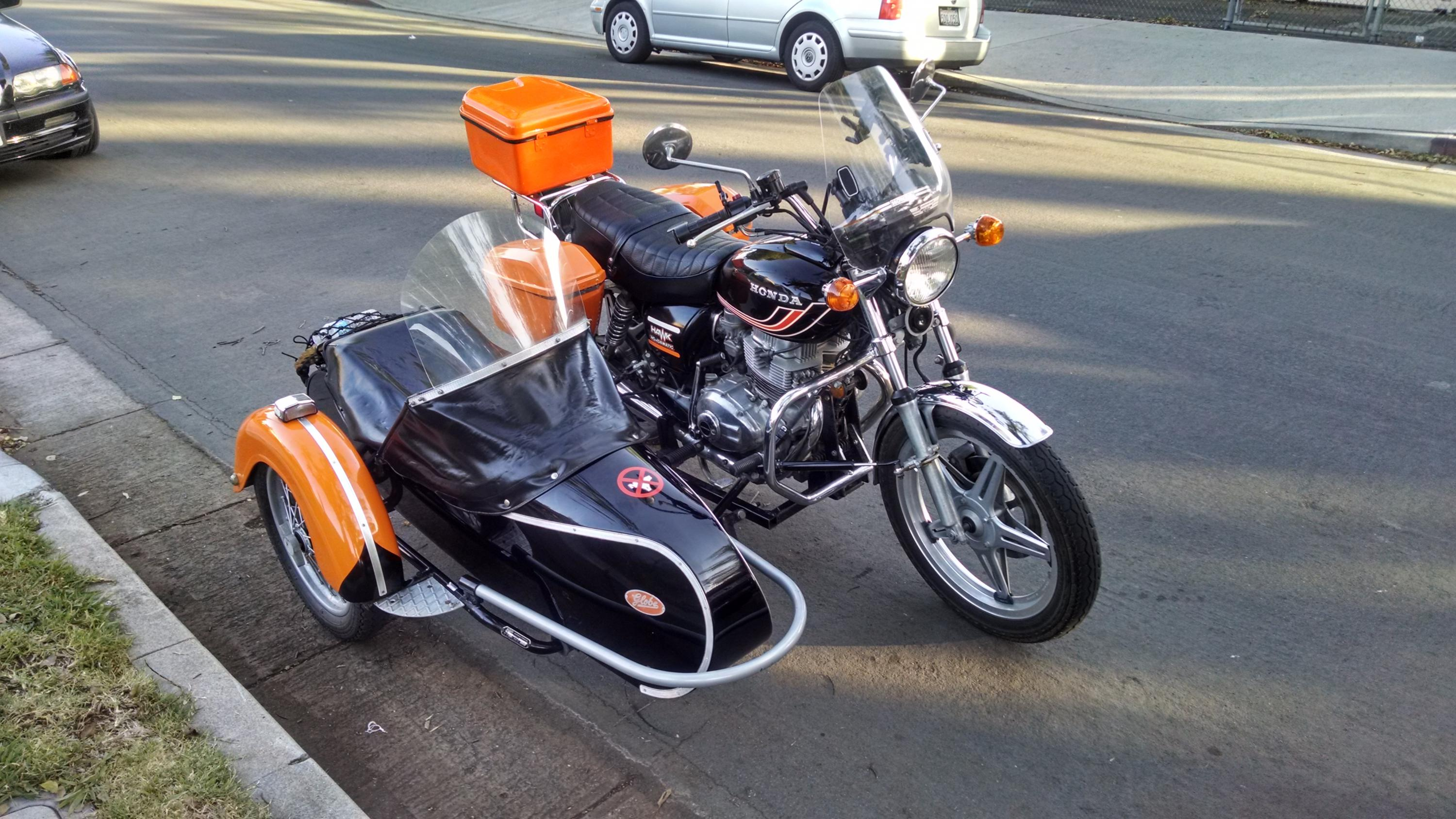 Fitting a sidecar to a CB400A Hondamatic