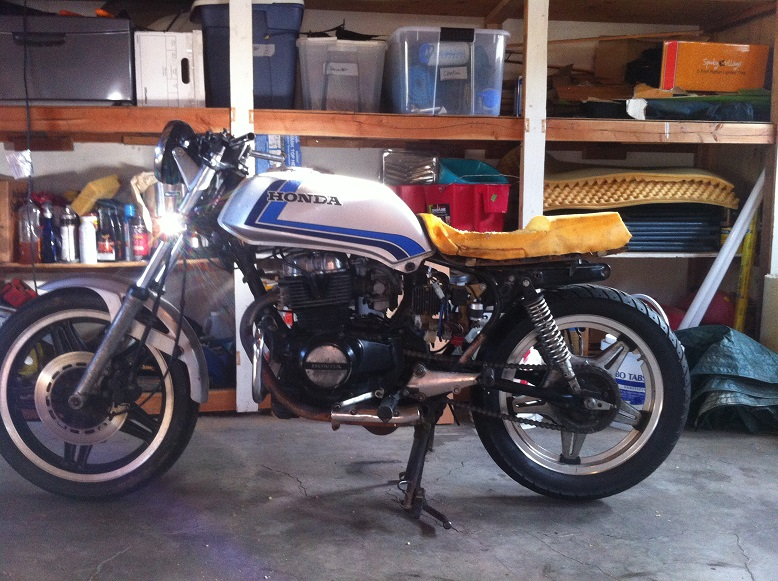 1982 CB450T Cafe Conversion 2014 09 13 175230