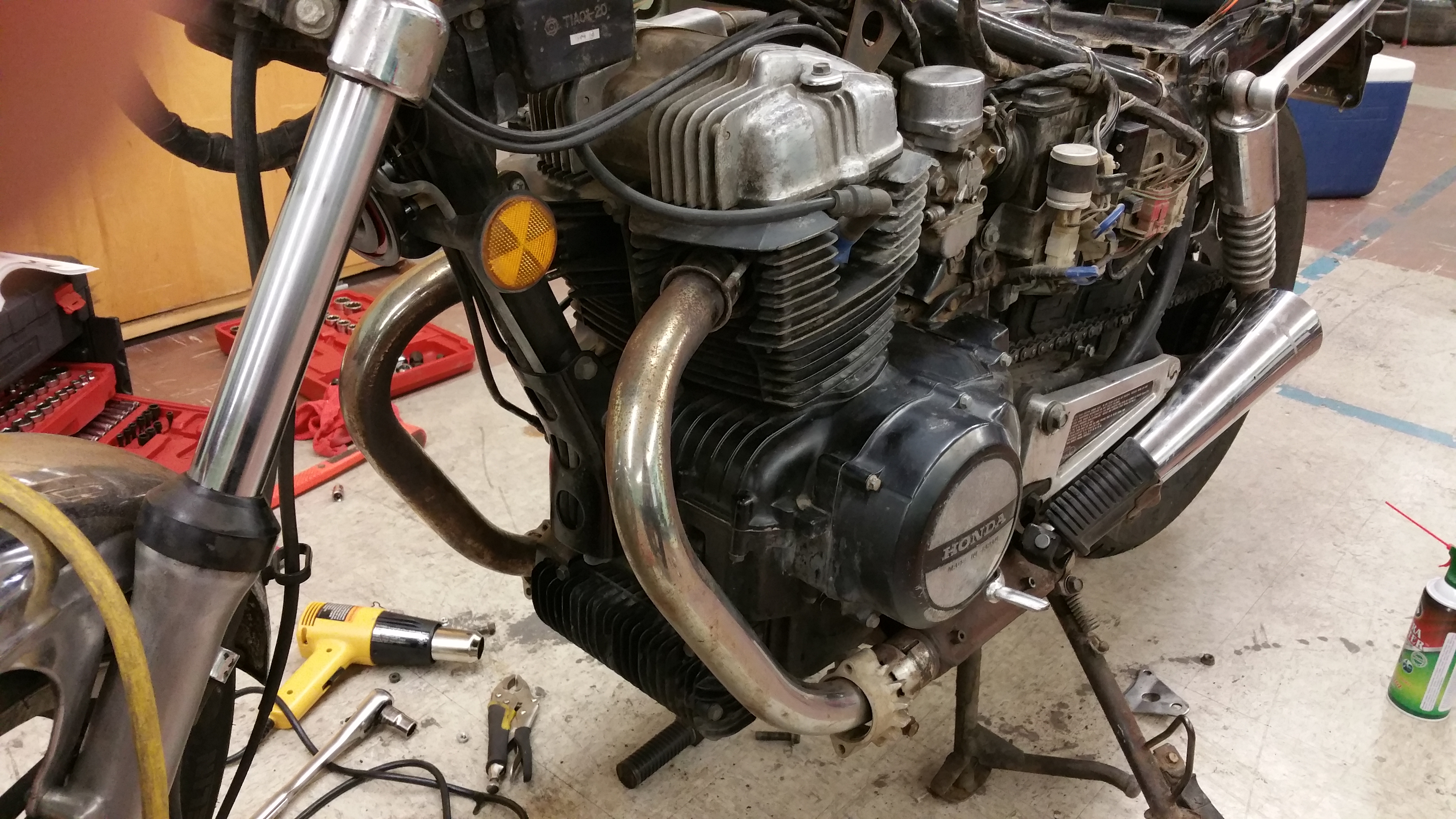 1982 CB450SC, How to Remove Exhaust?