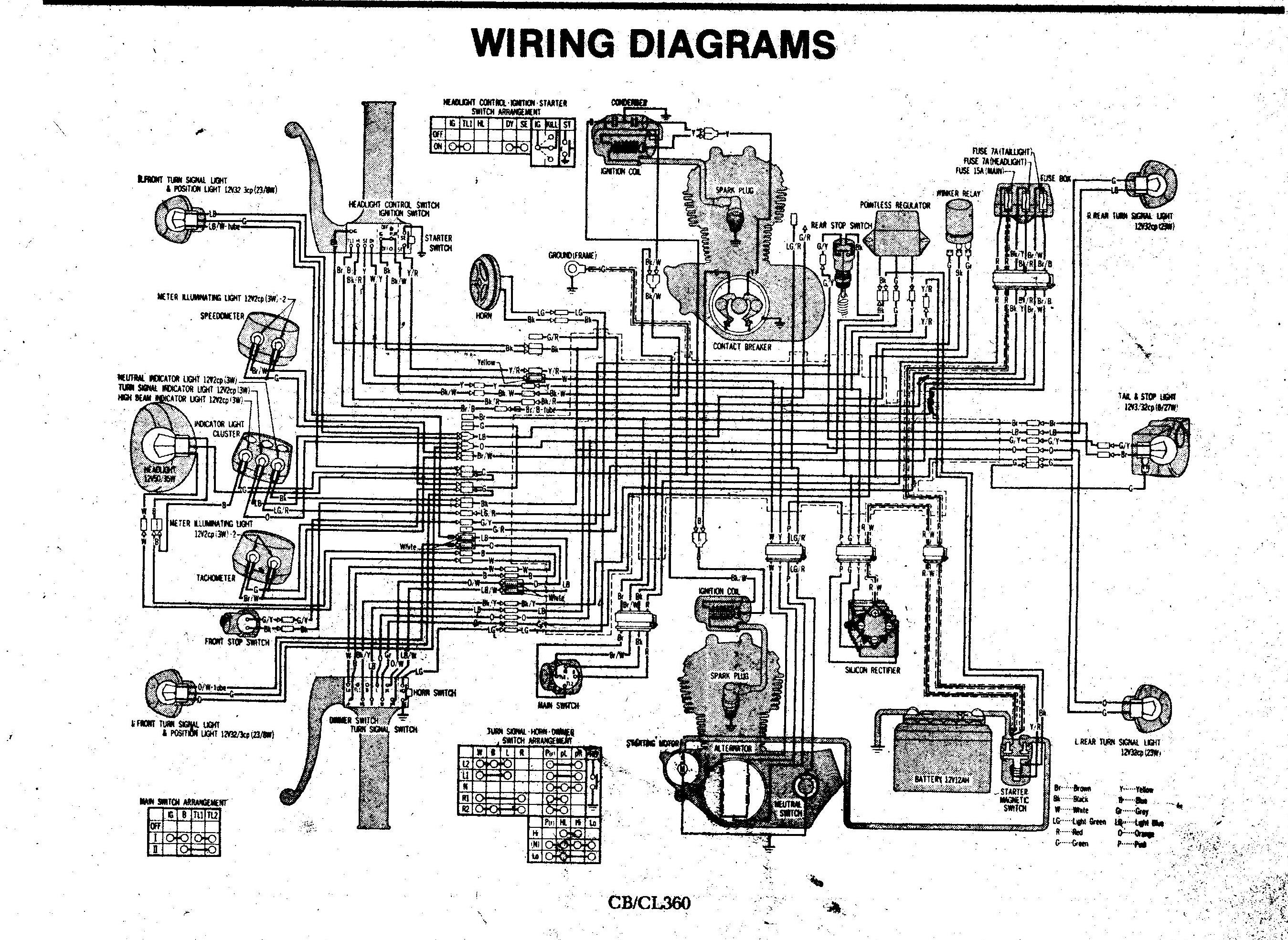 1975 Honda Cl360 Wiring Diagram - WIRE Center •