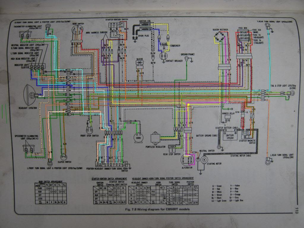 76 Cb500t Wiring Diagram For Honda 500tcolor