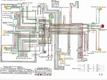 Electrical    Wiring       Diagram    in Color  CM400T 1980