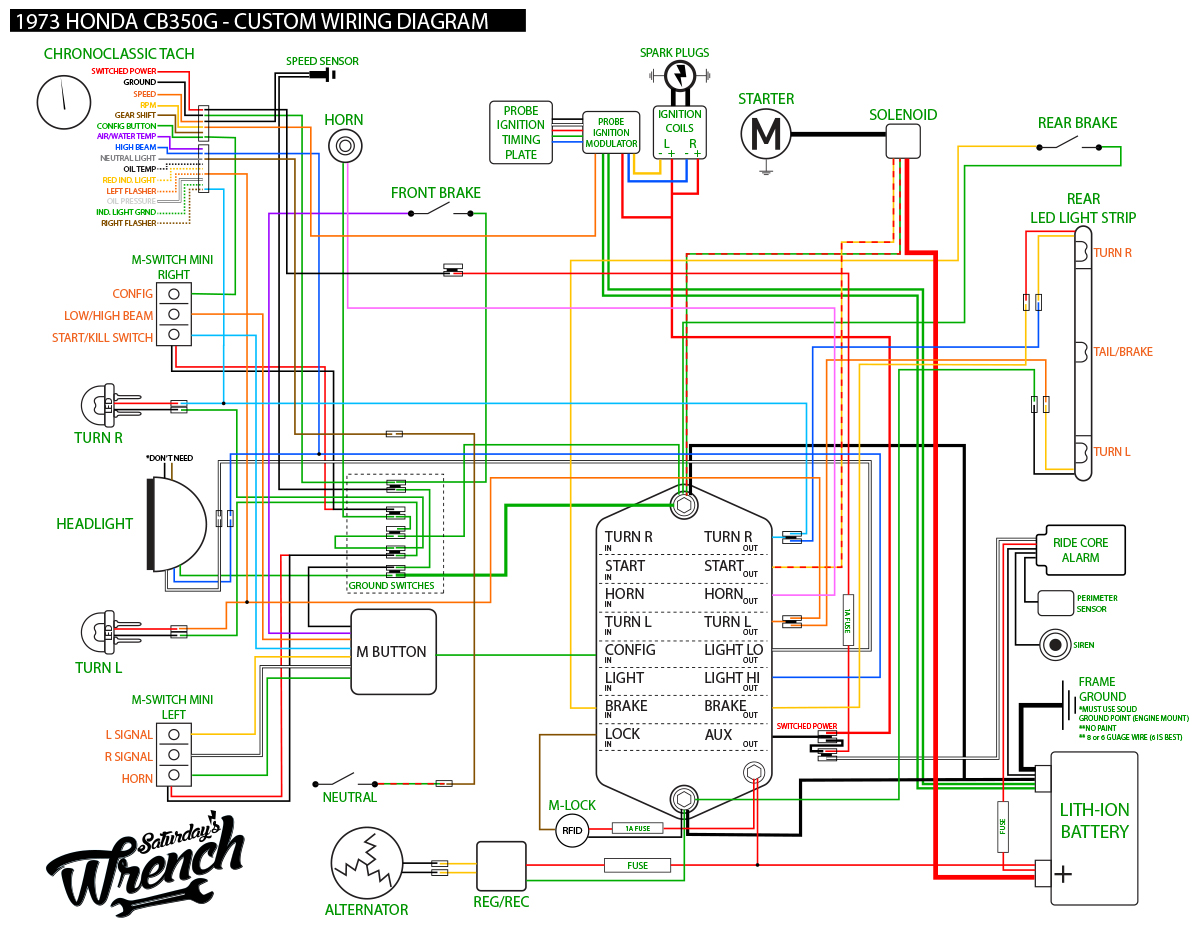 Custom Wiring Diagram for M-Unit Install-73honda350_wiring_diagram.jpg