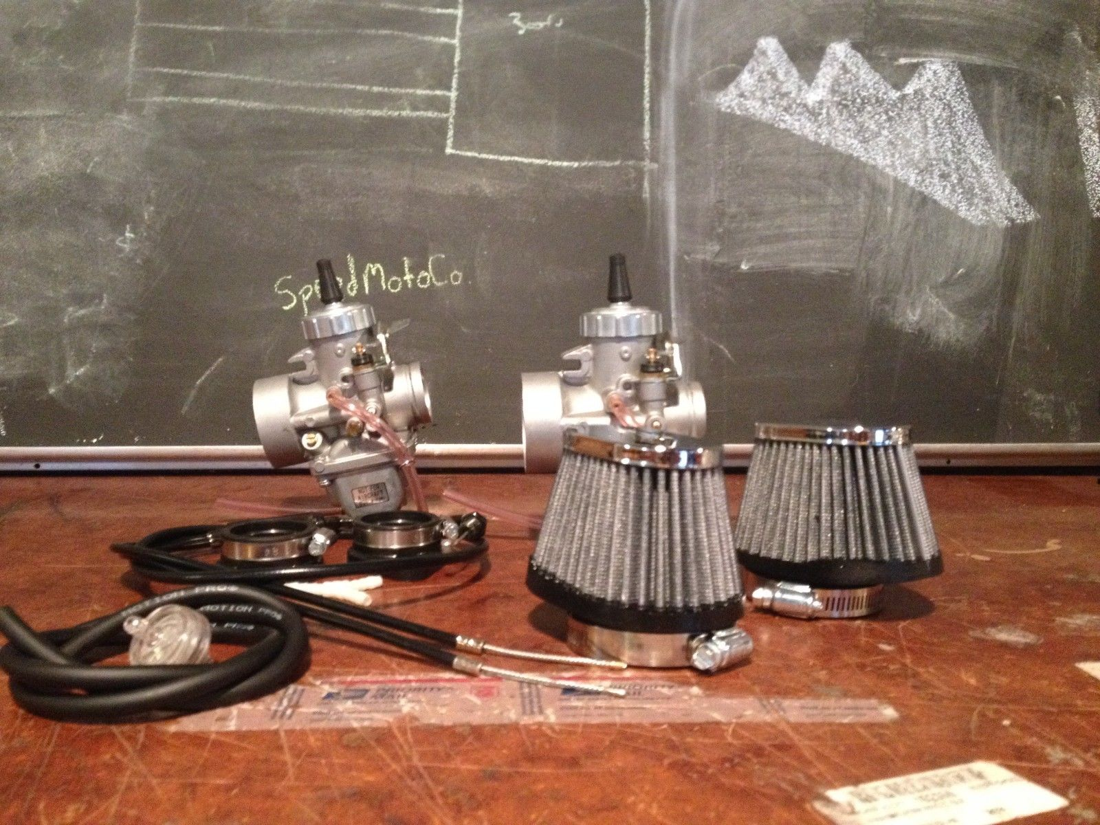 vm30 carb kit! On sale! cb350 Honda. Carbs, pods,2-1 cable, Intake~ Free Shipping!-_57-11-.jpg