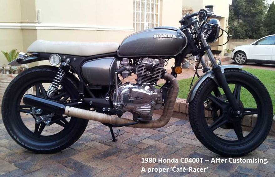 1980 Honda CB400T Cafe Racer After Pics