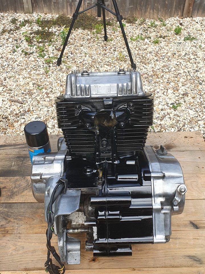 project 'Foxy Lady' CB250 scrambler build-assembled-engine-2.jpg