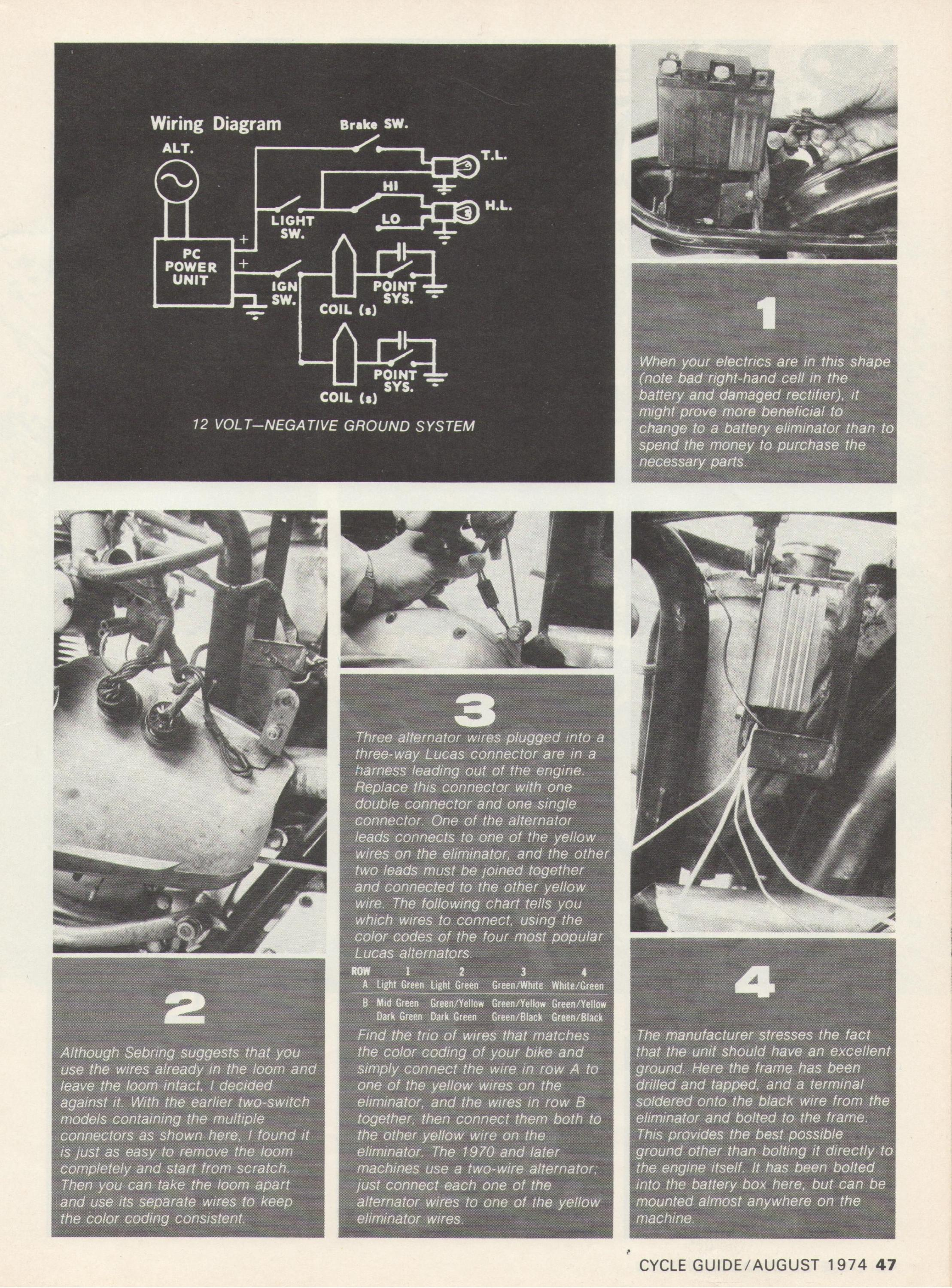 installing a battery eliminator tech article cycle guide magazine August 1974-battery-eliminator-p.2.jpg