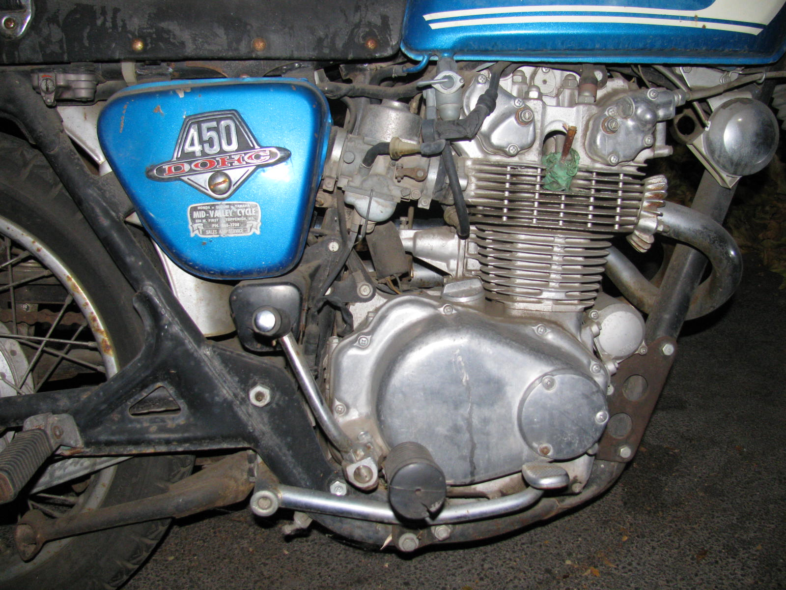 74 CL450 Resurrection-before-engine.jpg