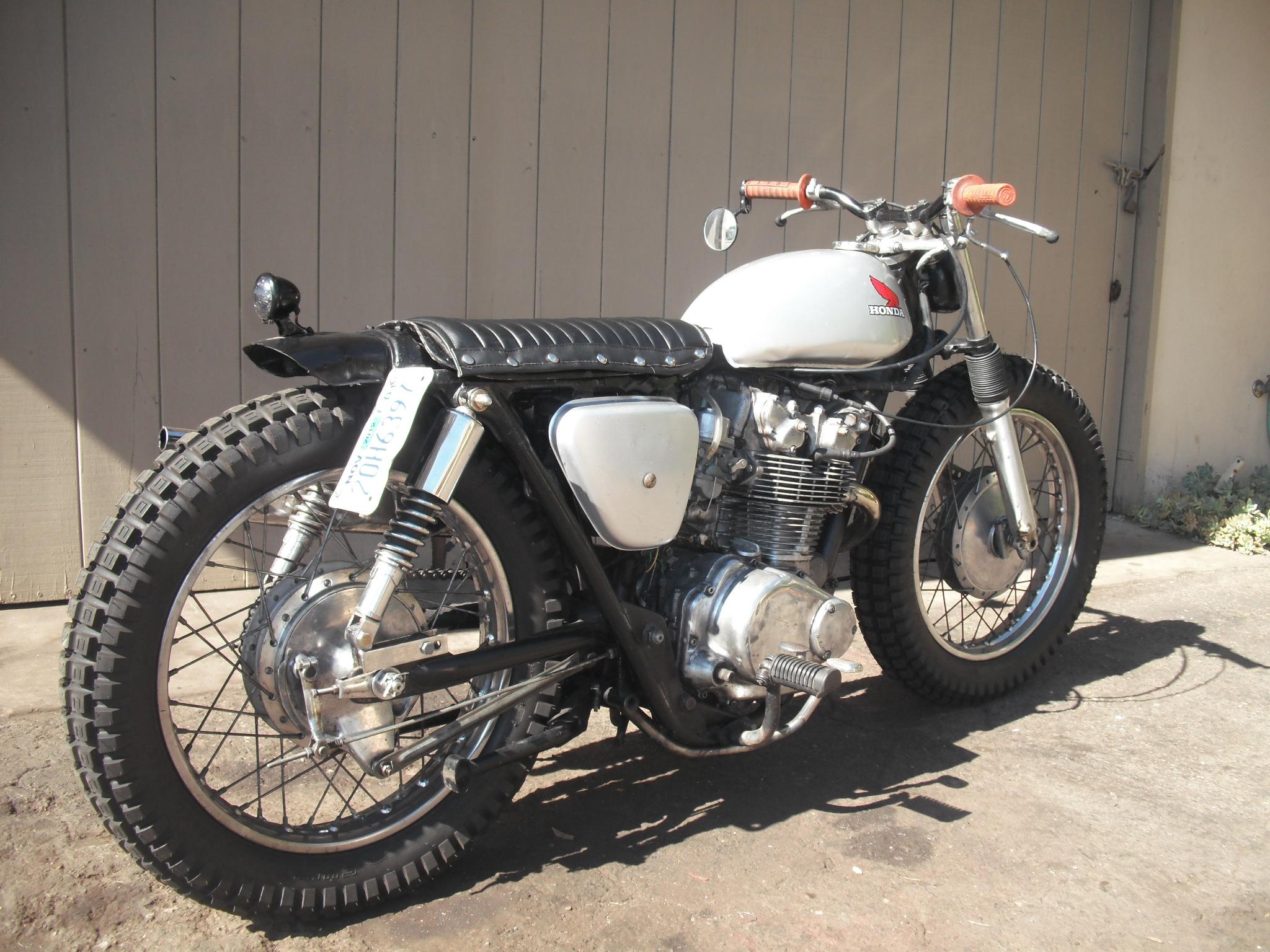 Cb450 Brat Tracker Bike 008