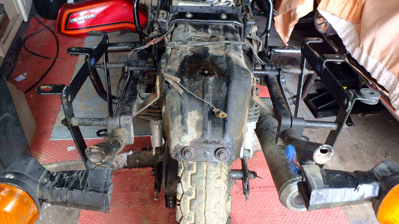 James Adams - My CB400N restoration-bracket-almost-off.jpg