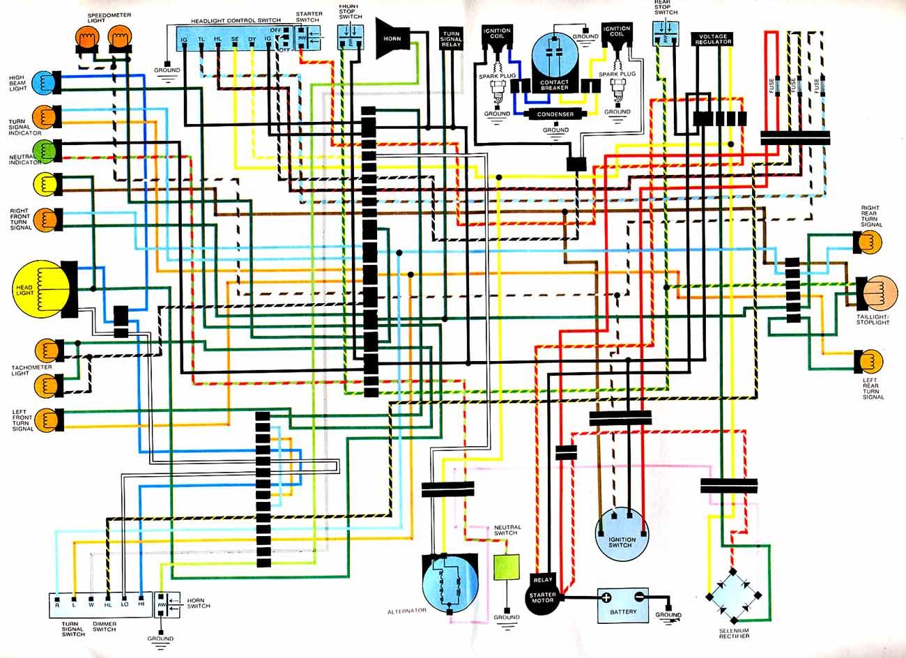 cb360 wiring diagram buckeye cb wiring diagrams 1968 honda cb wiring diagram