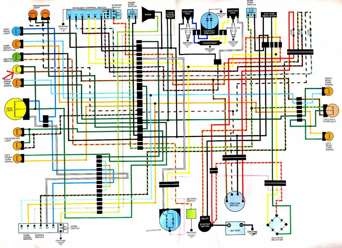 Cb360 Wiring Diagram Color - Wiring