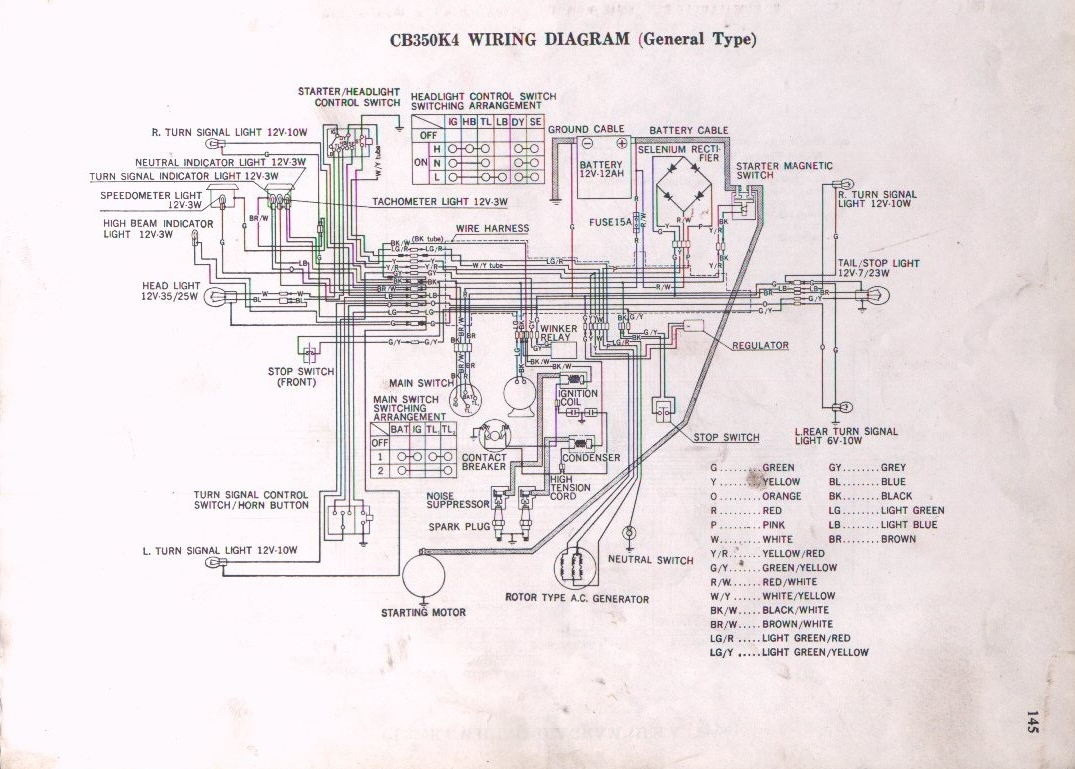 Ford Windstar Turn Signal Wiring Diagram Library Stereo Wire 89 Yellow From Alt Rect Reg Cb350 K4 Schematic