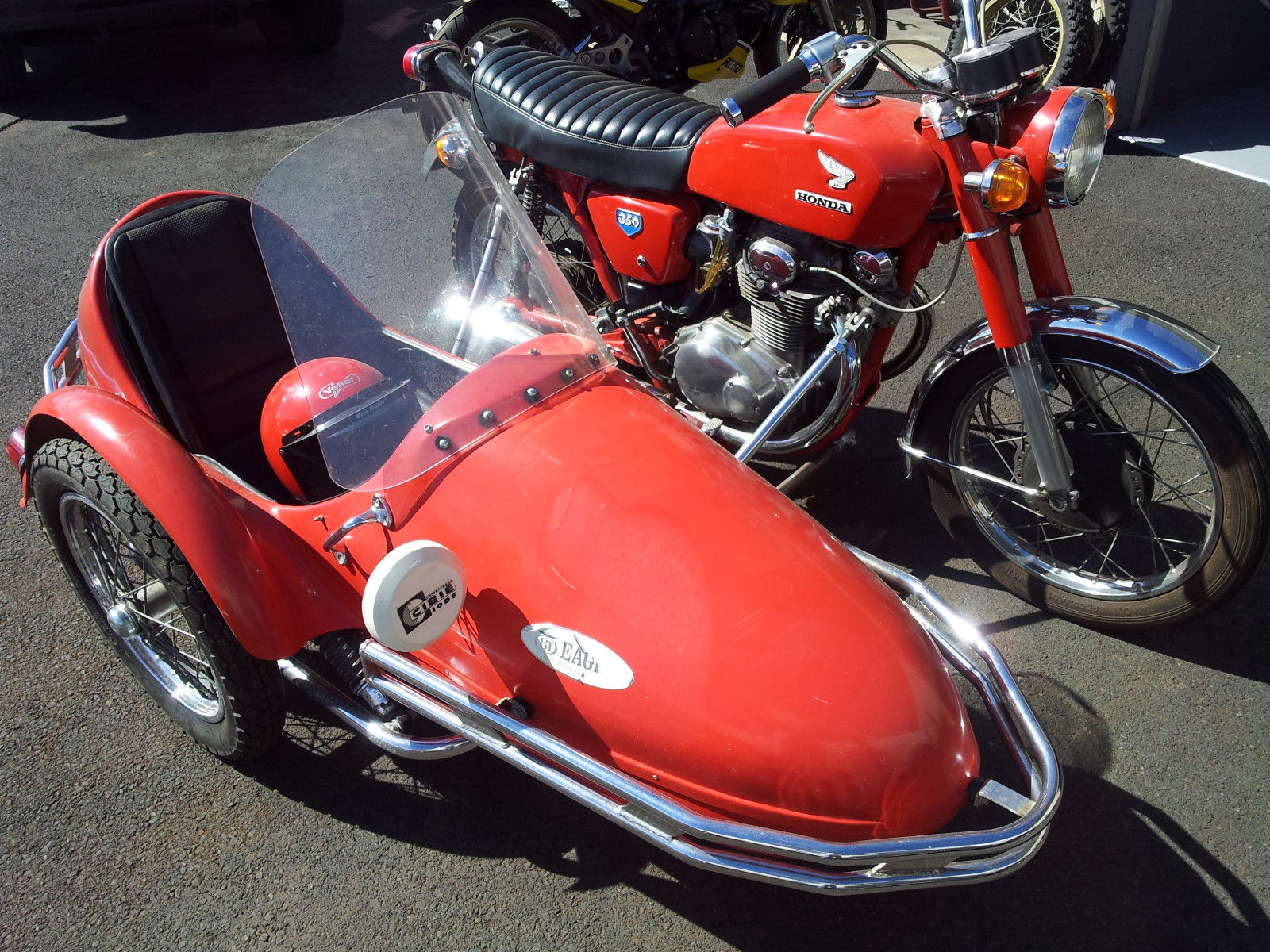 71 Cb350 With Sidecar