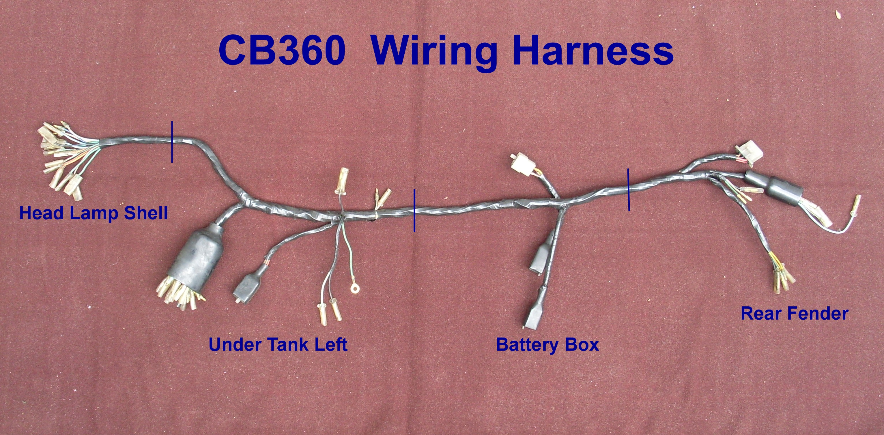 Cb360 Simple Wiring Harness Automotive Wiring Harness - Wiring Diagrams