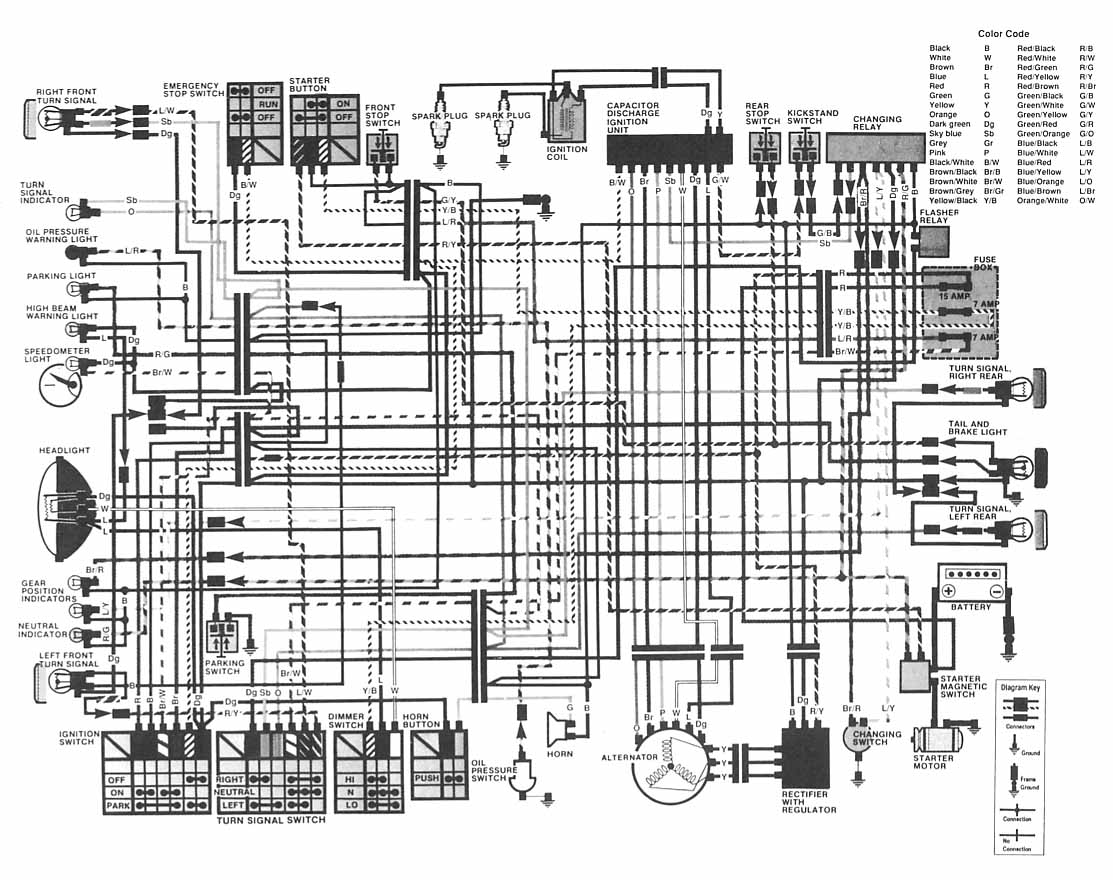 which wire does what rh hondatwins net Schematic Diagram Honda Schematic Diagram Honda