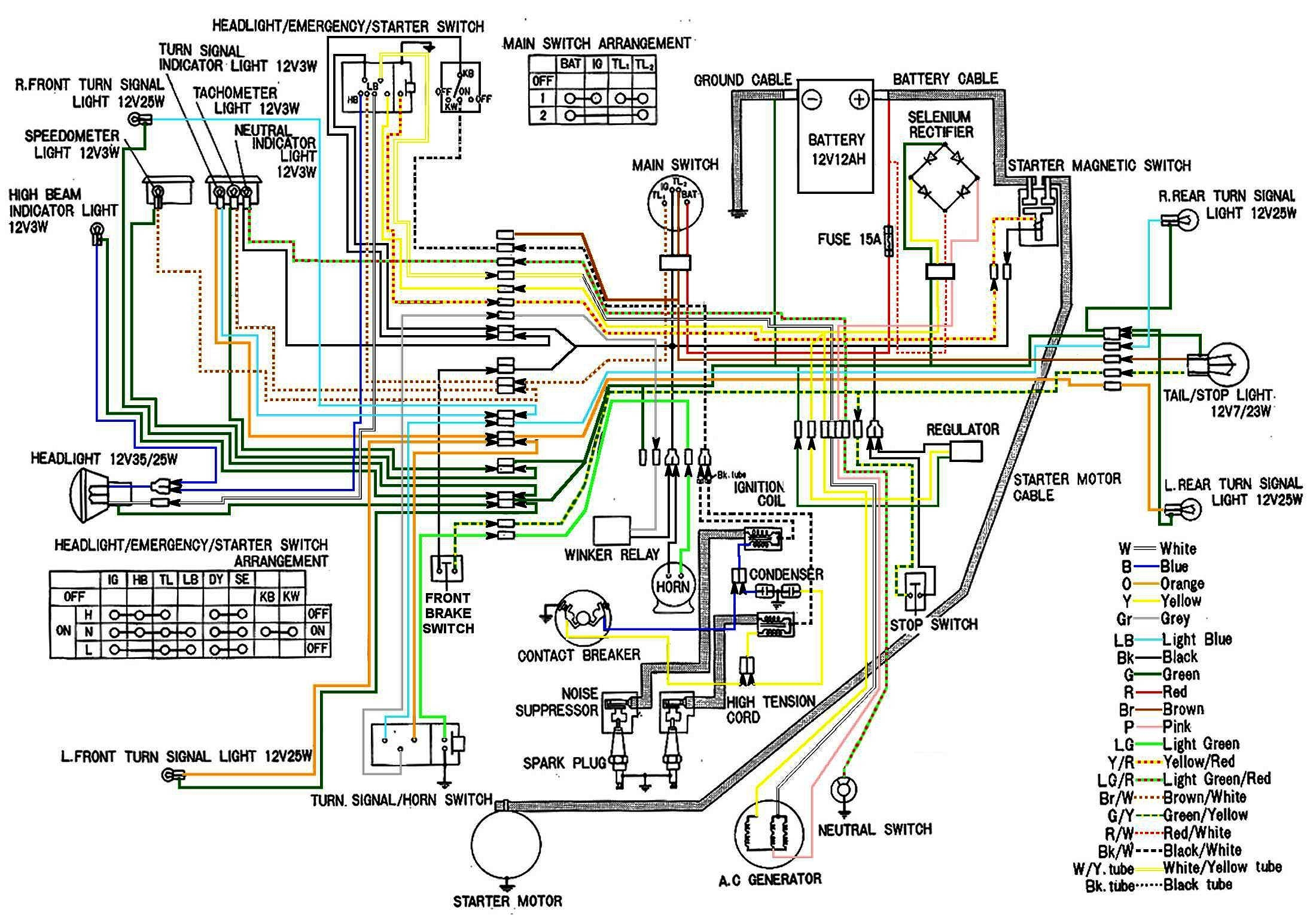cb450 color wiring diagram (now corrected) honda twins  1974 honda cb450 wiring diagram #3