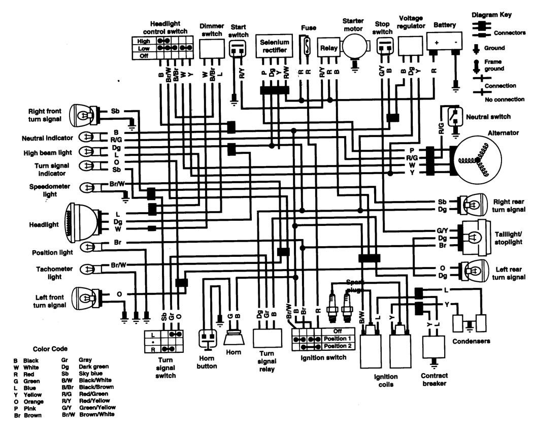 honda cb500t electrical wiring diagram circuit wiring