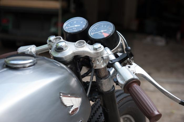 D Clip Handle Bar Clipons on Cafe Racer Wiring
