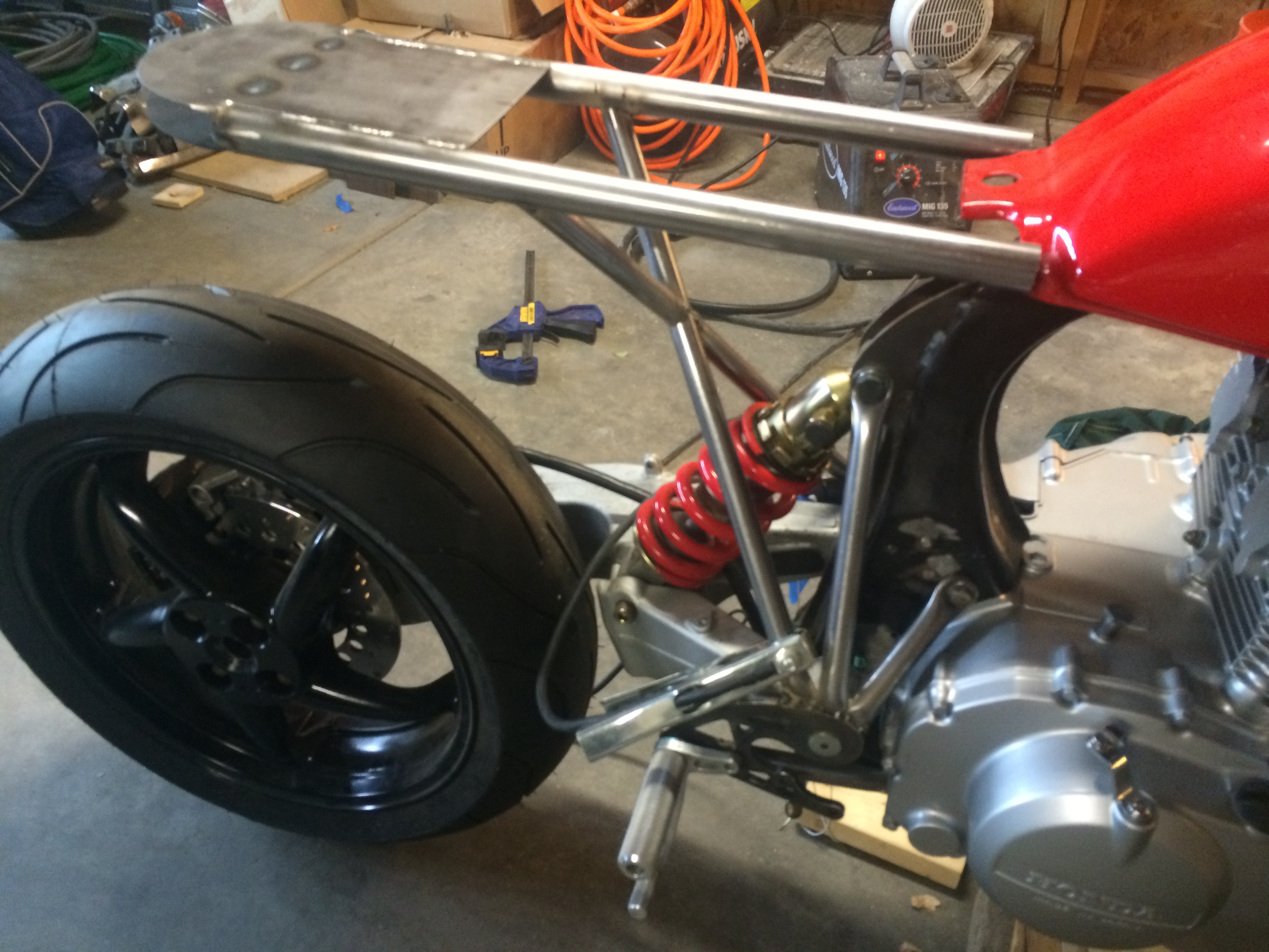CM450C Conversion - single swing arm & monoshock - Page 5