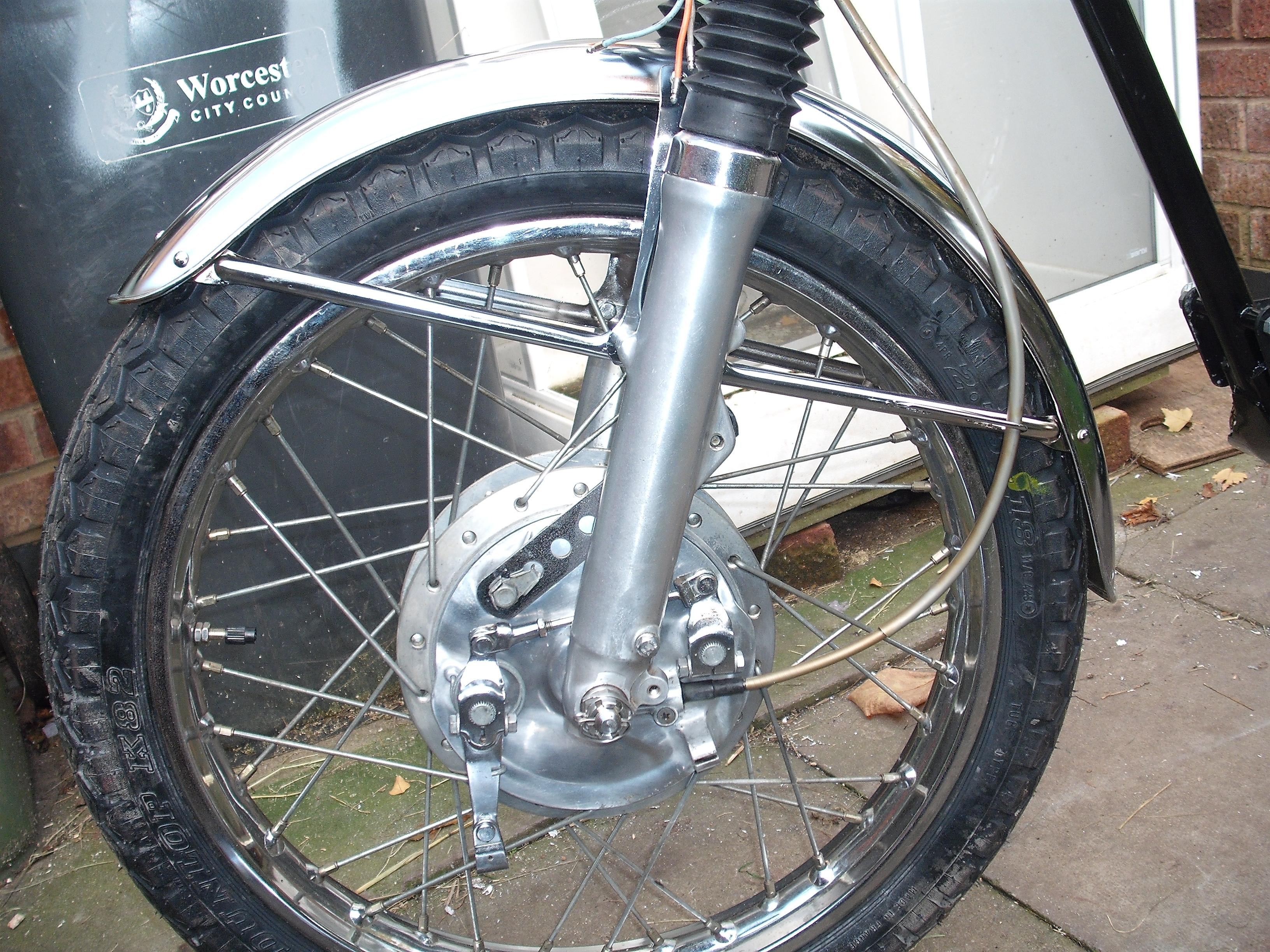 Cb175 Front Brakes  Speedo Question