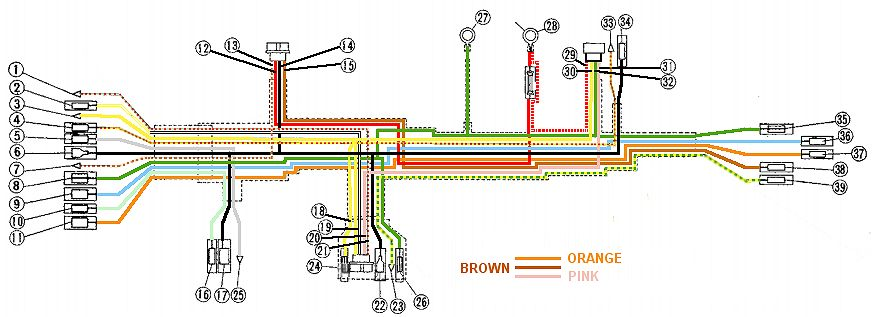 1227d1359763852 cb450 color wiring diagram now corrected factory service manual wiring harness_no_labels wiring loom diagram 1 2wire loom \u2022 wiring diagrams j squared co Ammeter Gauge Wiring Diagram at gsmx.co