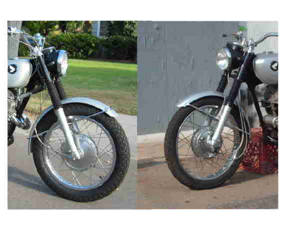 1969 CL350 Basket Case Project-frontendcomparison.jpg