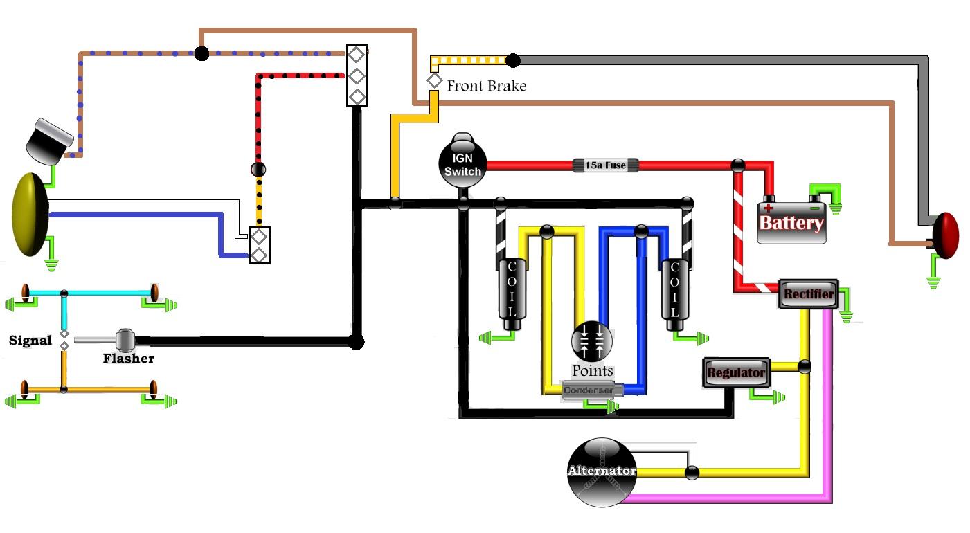 Revised Wiring Diagram | Honda TwinsHonda Twins