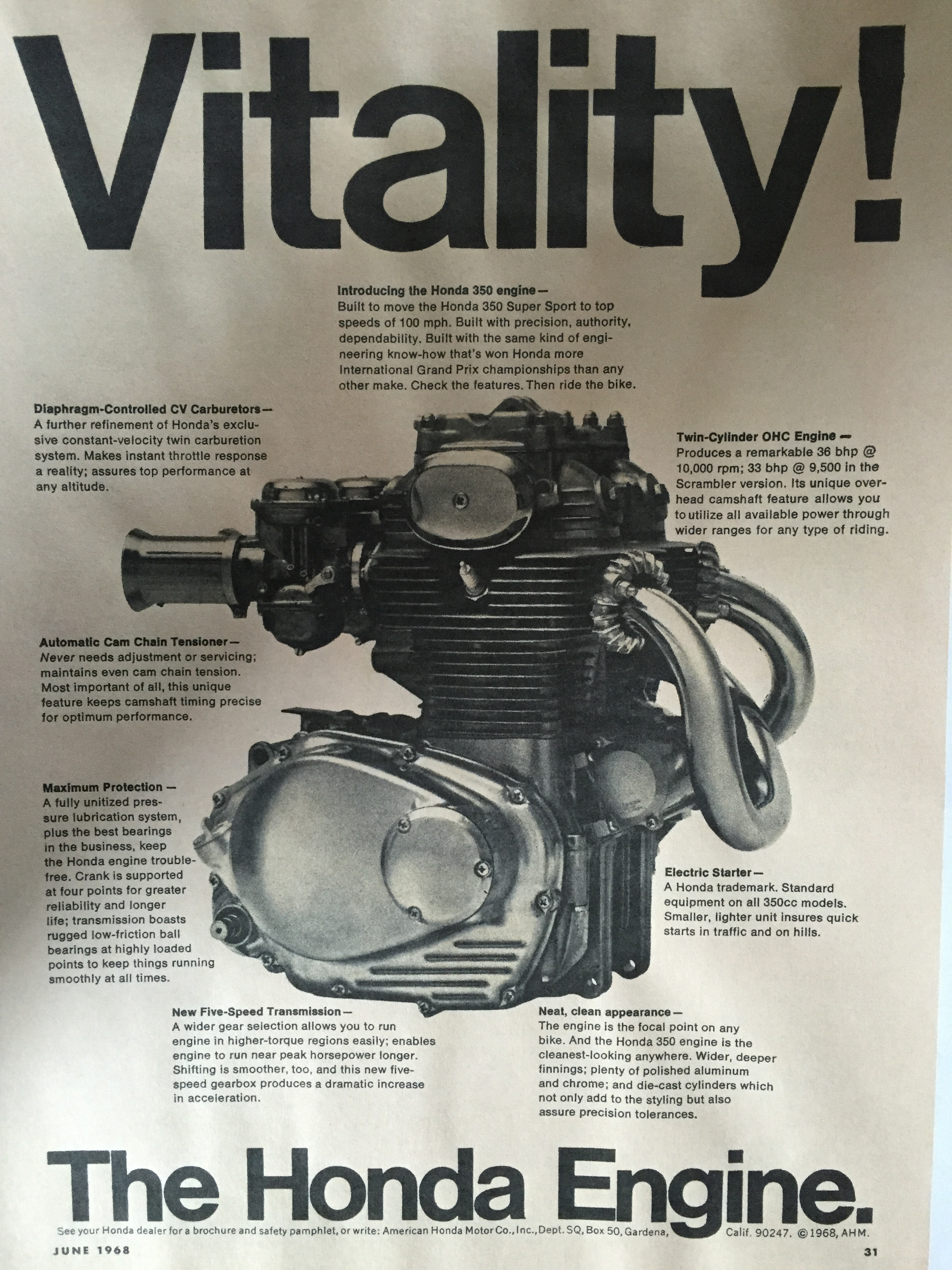 1960s Honda Magazine Ads