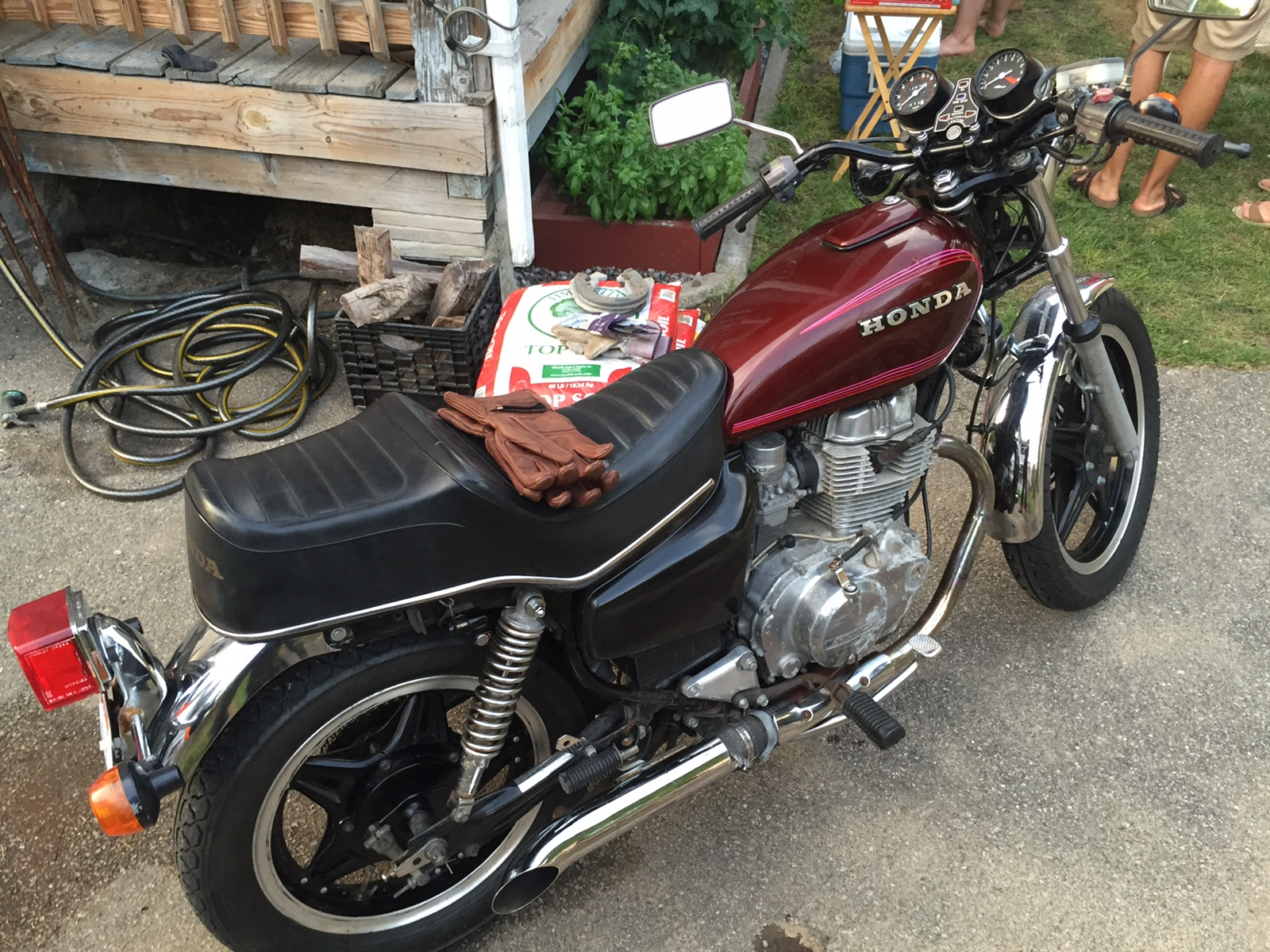 rasing my honda cm400t to suit my height. Black Bedroom Furniture Sets. Home Design Ideas
