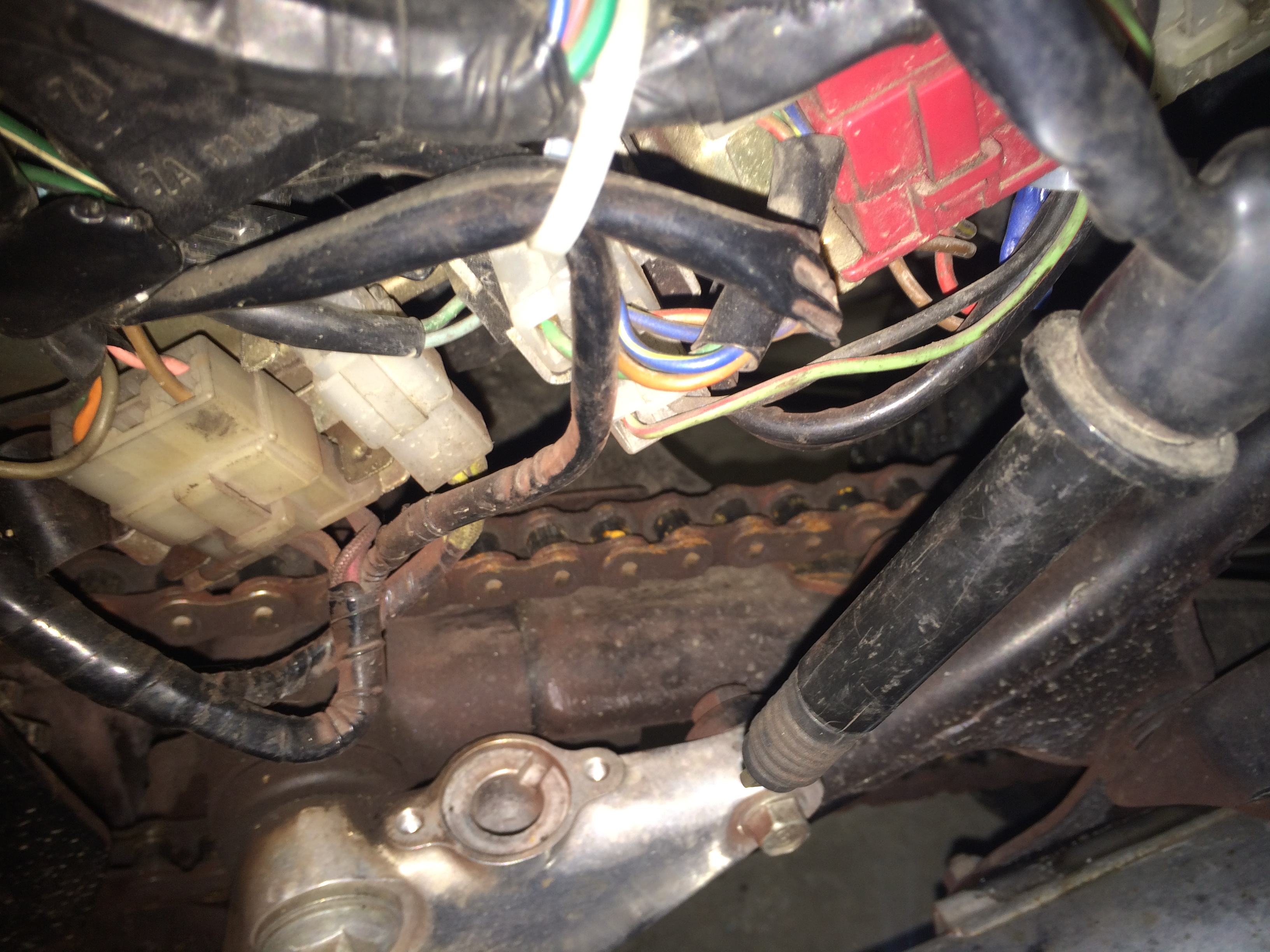 1982 Honda 450 Hondamatic Wiring Electrical Diagram House Cx500 Cm450a Mystery Cable Buried Behind Rectifier Rh Hondatwins Net Cm Bobber 1978