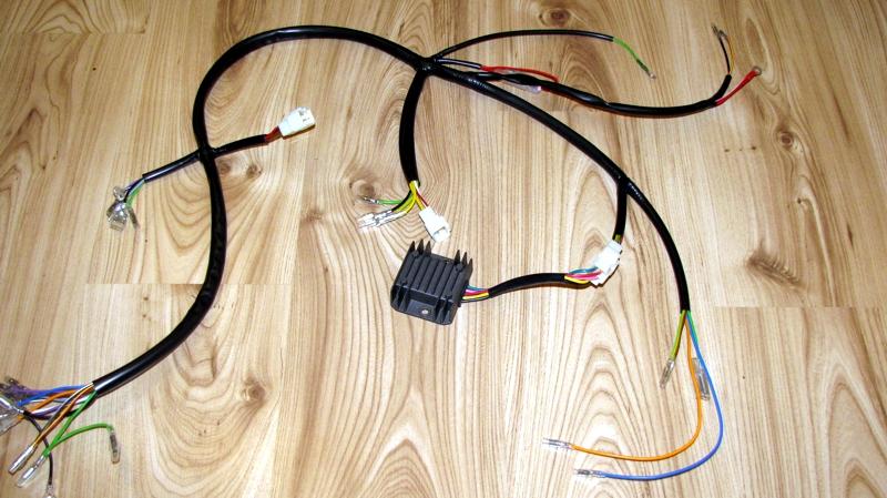 New repro. CB350 / CL350 / SL350 wiring harness to fit Rick's motorsport  charging kit | Honda TwinsHonda Twins