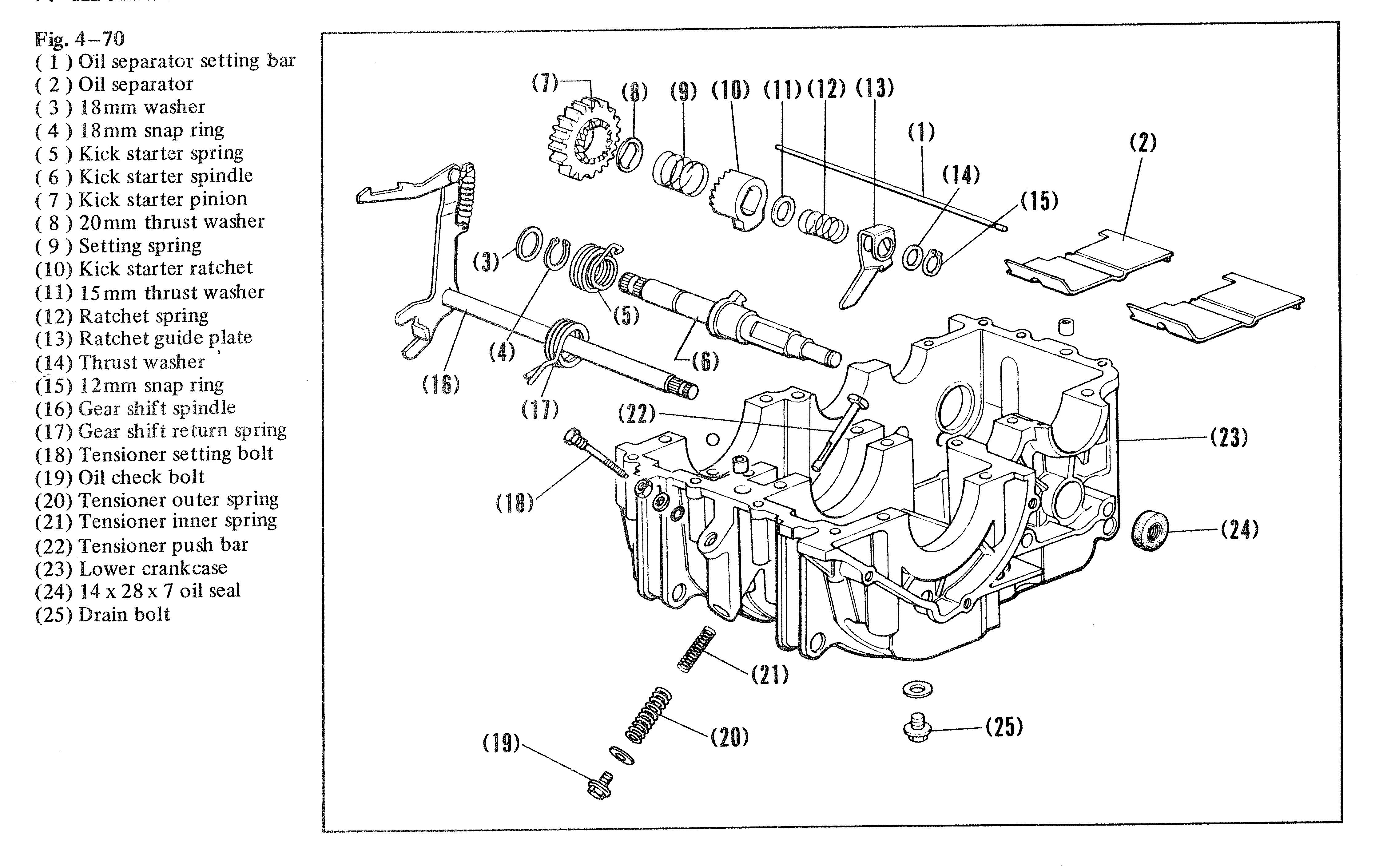 Cb360 Engine Diagram. honda cb360 sport 1974 usa frame schematic  partsfiche. 1975 cl360 motor parts needed. cb360 cam chain tensioner lower  bolt. cb360t oil starvation 2 broken oil pumps need new head.2002-acura-tl-radio.info