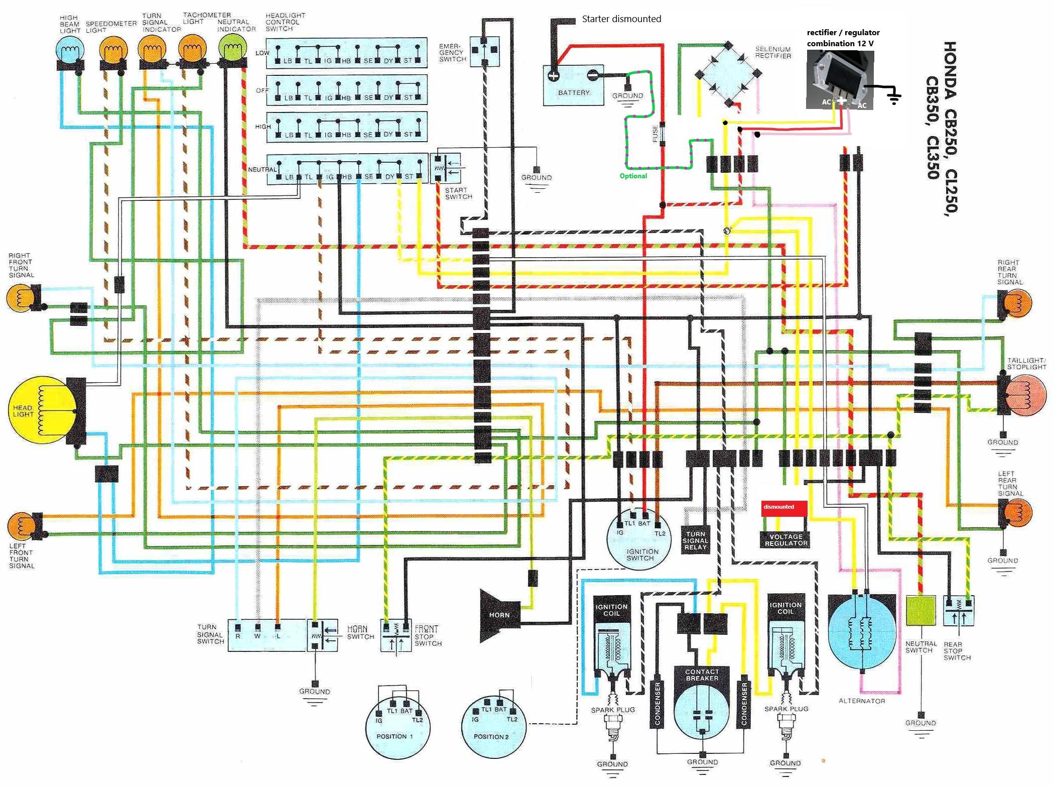 honda sl350 wiring diagram all wiring diagram Gl1000 Wiring Diagram