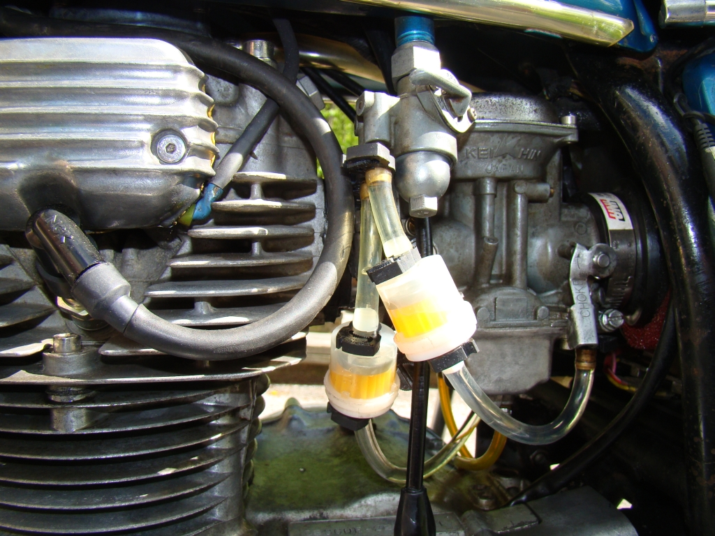 Does my 1971 CB350K3 have a fuel filter?-new-smaller-filters.