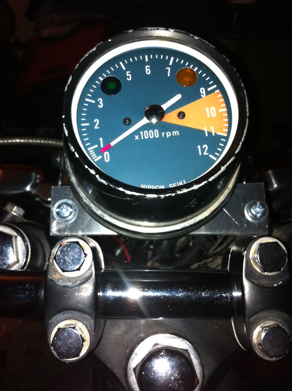 CB350 DIY Tach Cleaning & New LED Gauge Light installed PICS
