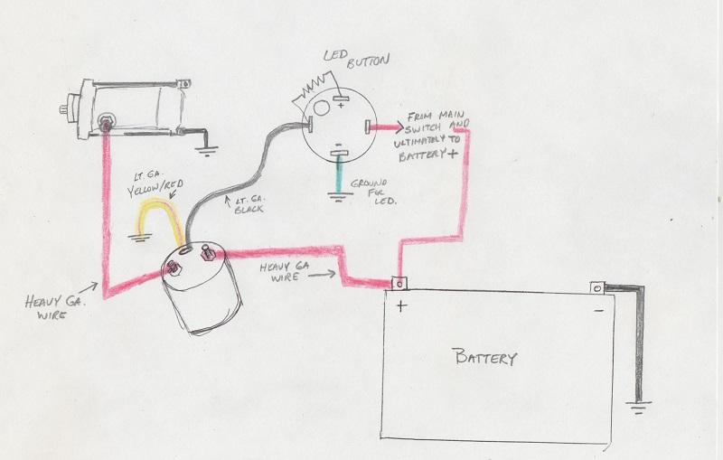 wiring schedmatic - cb350 cafe project-qd-start-circuit-001 jpg