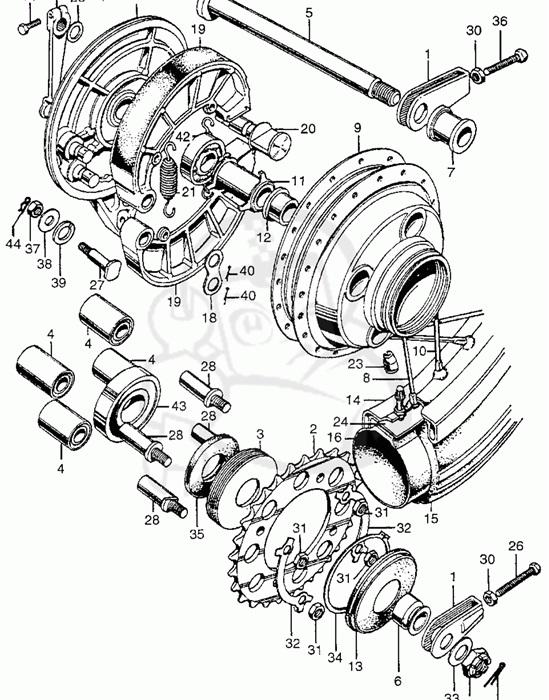 worn rear wheel bushings