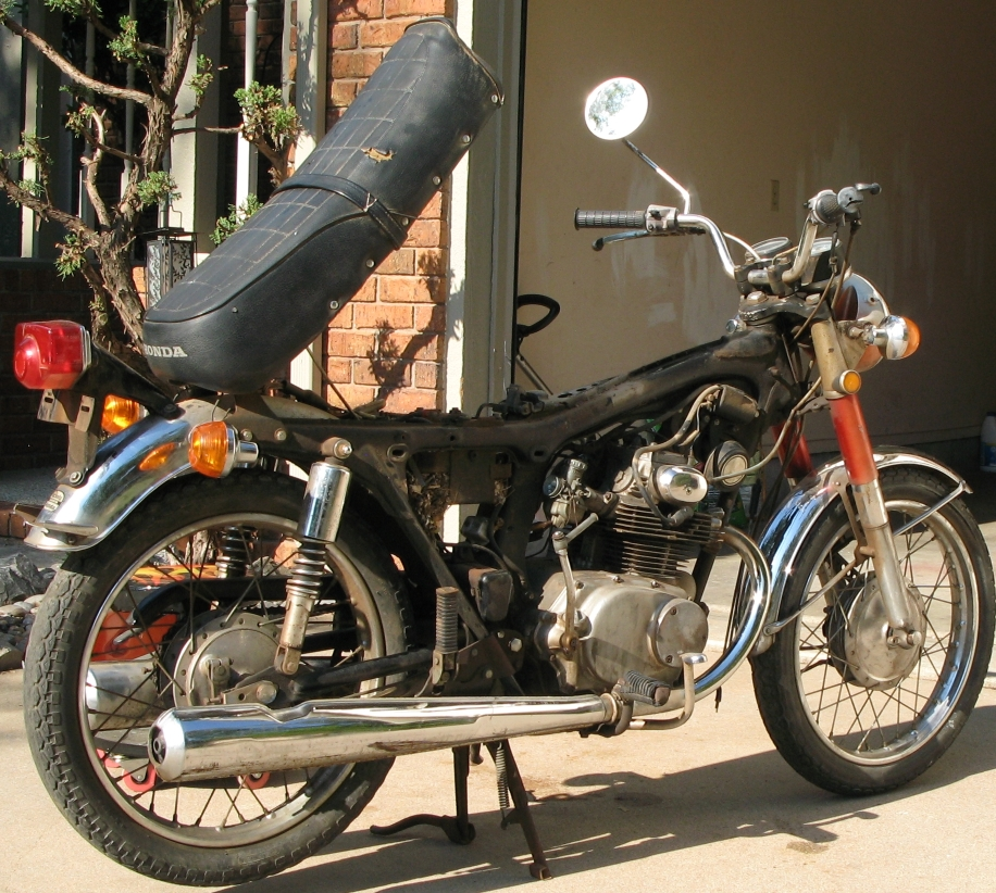 1971 CB175 (K5) - Rebuilding Miss Daisy-rt-side-view.jpg
