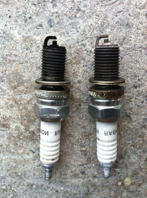 How Much Are Spark Plugs >> 1974 CB200, 1 black spark plug