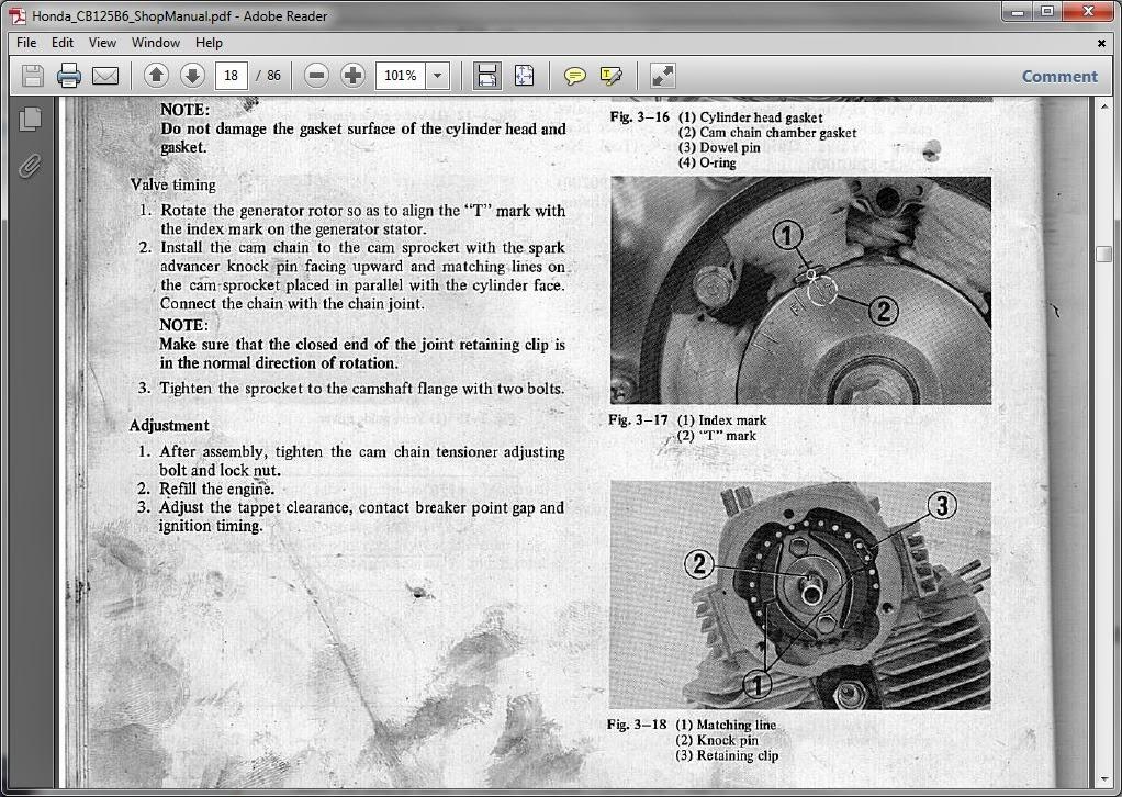 honda cb125 service manual
