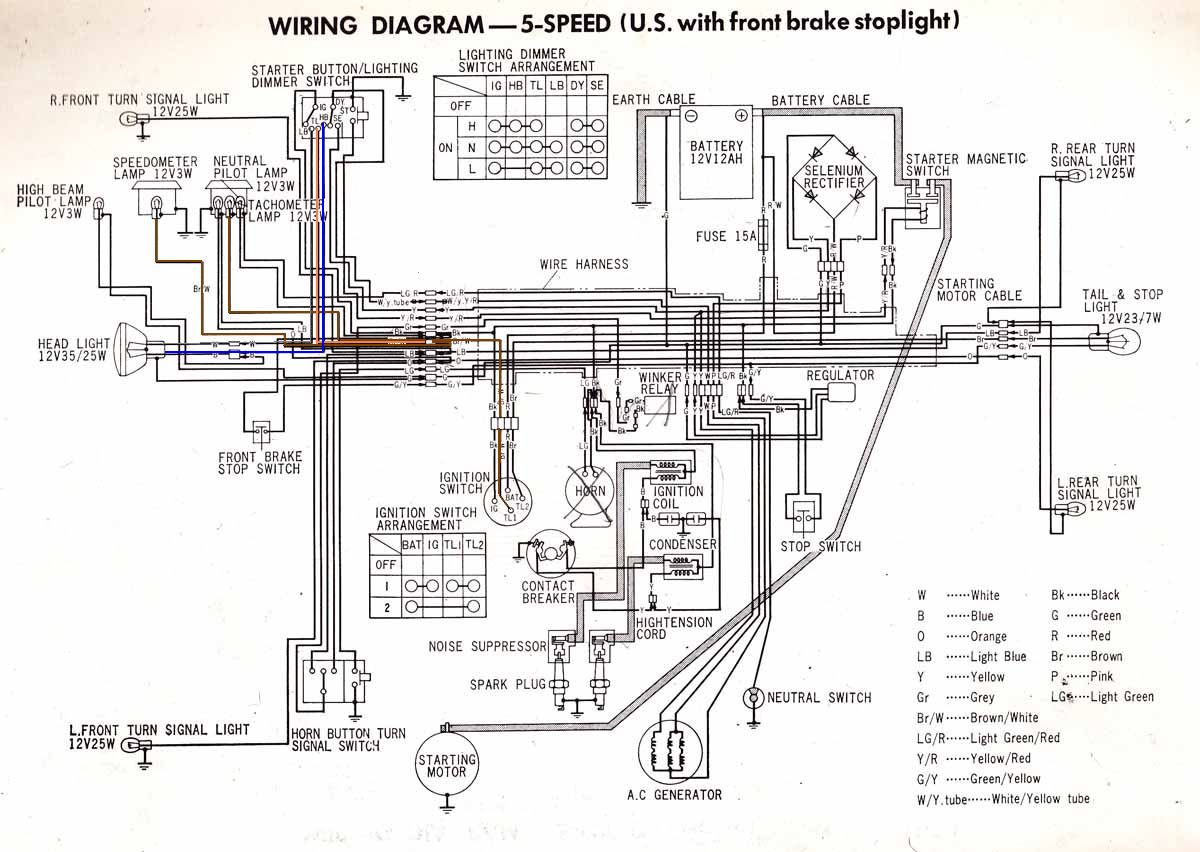 25235d1370278446 72 cb450 where does brown white get power wiring cb cl450 5speed b marked 72 cb450, where does the brown white get power? honda gx610 wiring diagram at readyjetset.co