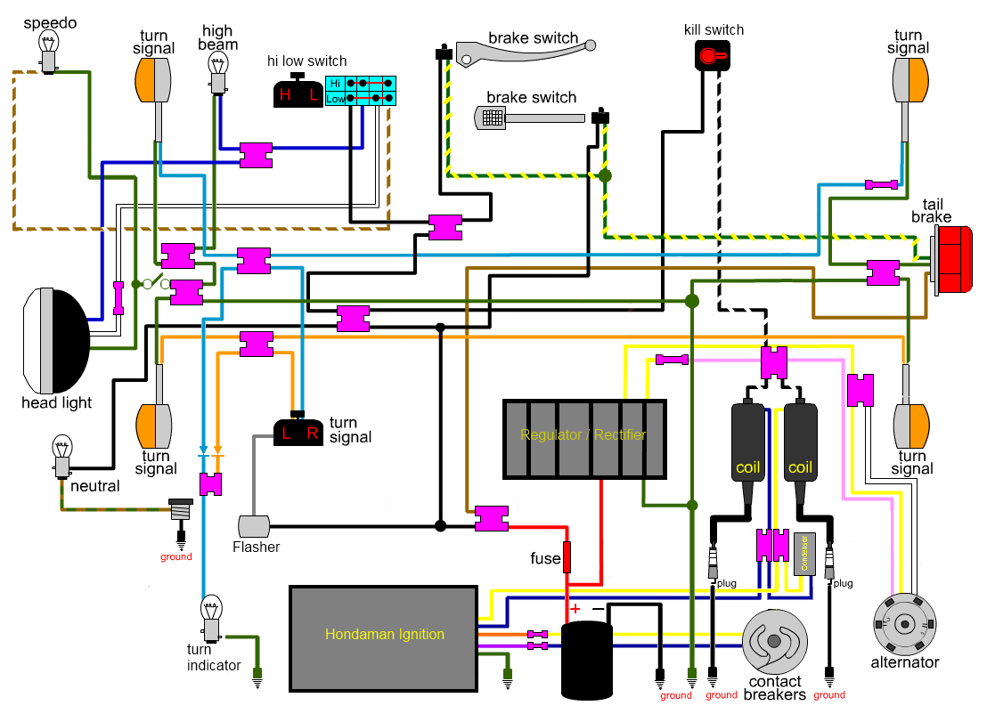 Honda Cb750 Wiring Diagram from www.hondatwins.net